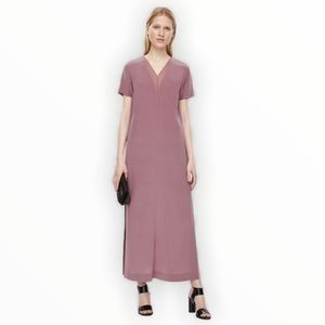COS Silk Dress With Side Pockets And Slits